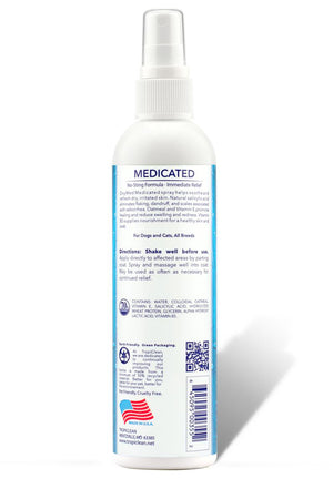TropiClean OxyMed Medicated Quick Relief Soothing Spray for Dogs and Cats, 8oz.-Le Pup Pet Supplies and Grooming