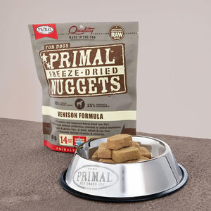 Primal Venison Formula Grain-Free Freeze-Dried Raw Nuggets Dog Food