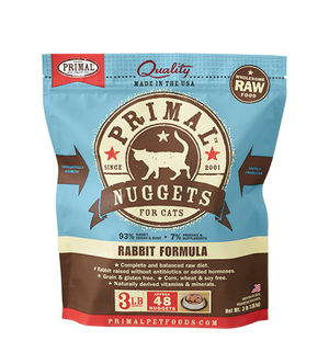 Primal Rabbit Formula Grain-Free Frozen Raw Cat Food