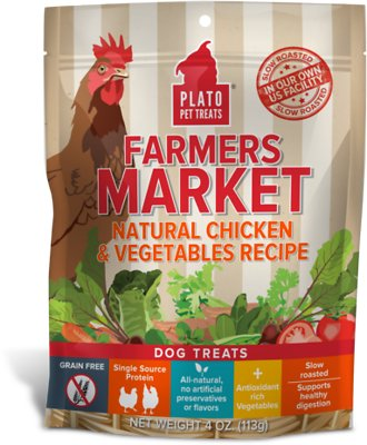 Plato Farmers Market Chicken & Vegetables Dog Treats-Le Pup Pet Supplies and Grooming