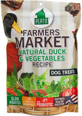 Plato Farmers Market Duck & Vegetables Dog Treats-Le Pup Pet Supplies and Grooming