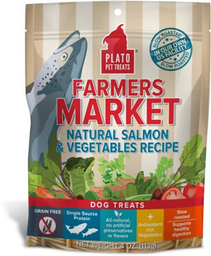 Plato Farmers Market Salmon & Vegetables Dog Treats-Le Pup Pet Supplies and Grooming