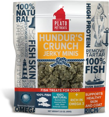 Plato Hundur's Crunch Fish Jerky Mini's Dog Treats-Le Pup Pet Supplies and Grooming