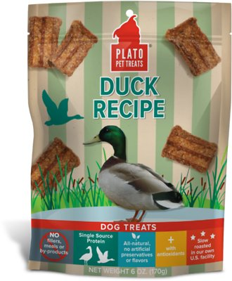 Plato Natural Duck Dog Treats-Le Pup Pet Supplies and Grooming