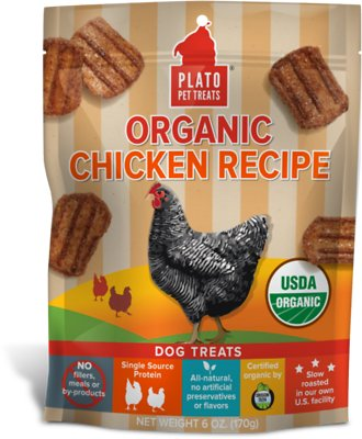 Plato Organic Chicken Recipe Dog Treats-Le Pup Pet Supplies and Grooming