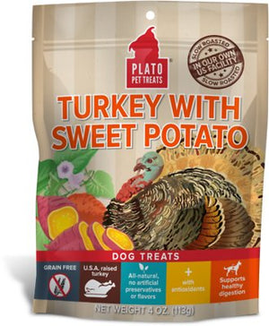 Plato Real Strips Turkey With Sweet Potato Dog Treats-Le Pup Pet Supplies and Grooming