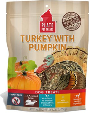 Plato Real Strips Turkey with Pumpkin Dog Treats-Le Pup Pet Supplies and Grooming