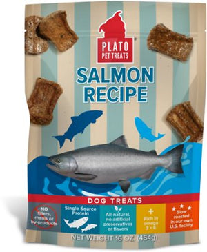 Plato Salmon Strips Dog Treats-Le Pup Pet Supplies and Grooming