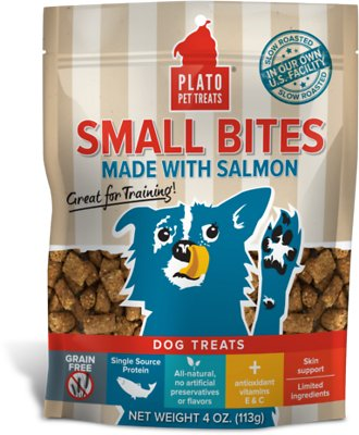 Plato Small Bites Slow Roasted Salmon Dog Treats-Le Pup Pet Supplies and Grooming