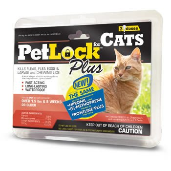 PetLock Plus Cat Security Flea & Tick Cat Supply, 3 Doses-Le Pup Pet Supplies and Grooming