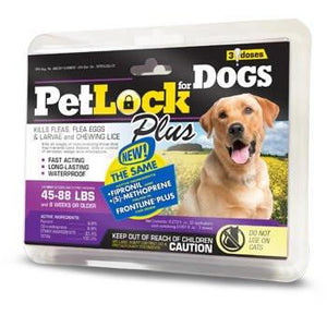 PetLock Plus Security Flea & Tick Dog Supply, 3 Dose - select-Le Pup Pet Supplies and Grooming