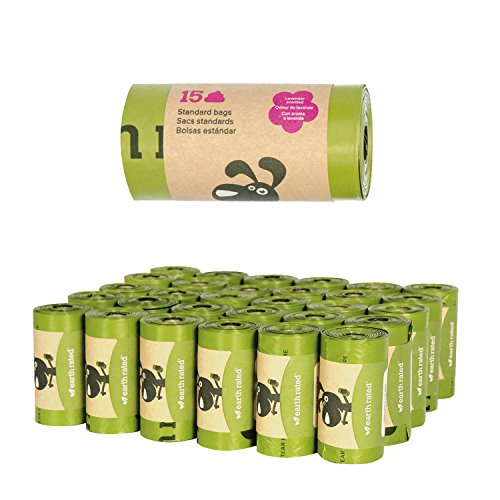 Earth Rated Poop Bags Single Roll Biodegradable Lavender Dog Supply-Le Pup Pet Supplies and Grooming