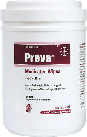 Bayer Preva Medicated Wipes for Dogs and Cats, 120 count-Le Pup Pet Supplies and Grooming
