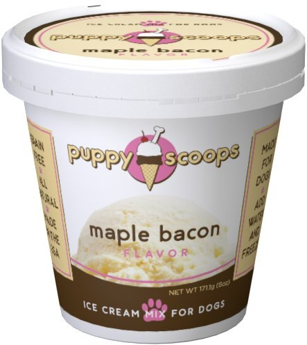 Puppy Cake Puppy Scoops Ice Cream Mix - Maple Bacon Grain-Free Dog Treat, 5.25oz.-Le Pup Pet Supplies and Grooming