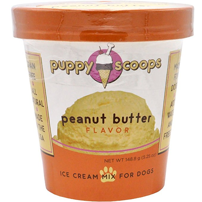 Puppy Cake Puppy Scoops Ice Cream Mix - Peanut Butter Grain-Free Dog Treat, 5.25oz.-Le Pup Pet Supplies and Grooming