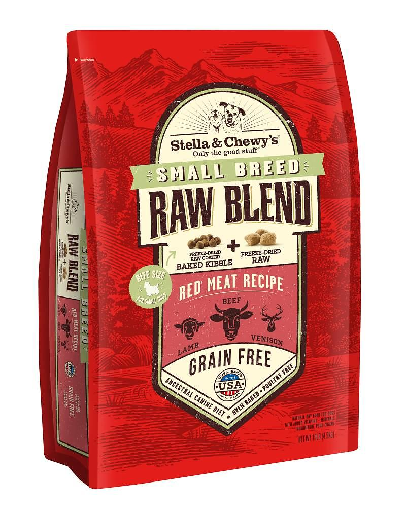 Stella & Chewy's Small Breed Red Meat Grain-Free Freeze-Dried Raw Blend Coated Baked Kibble Dog Food-Le Pup Pet Supplies and Grooming