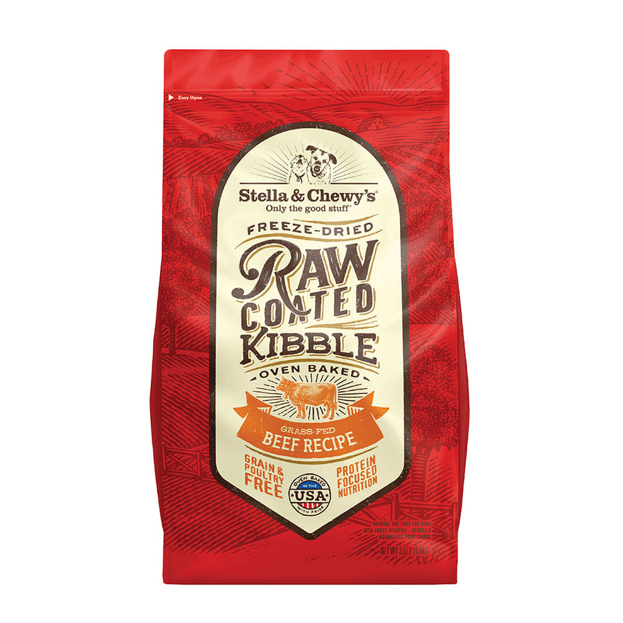 Stella & Chewy's Grass-Fed Beef Grain-Free Freeze-Dried Raw Coated Baked Kibble Dog Food-Le Pup Pet Supplies and Grooming