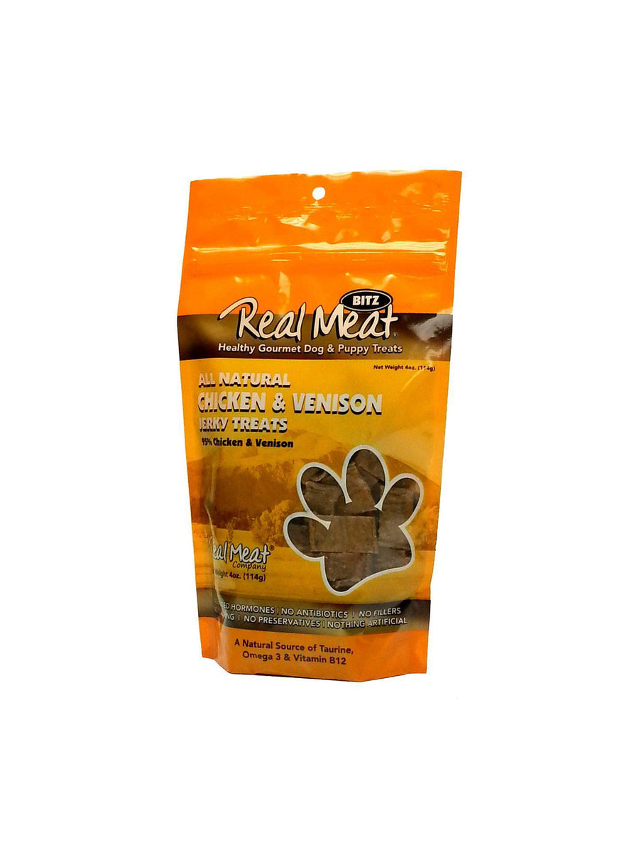 The Real Meat Company Chicken & Venison Jerky Grain-Free Dog Treats-Le Pup Pet Supplies and Grooming