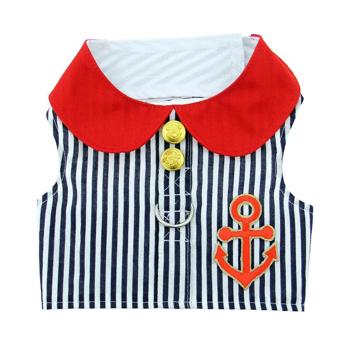 Doggie Design Sailor Boy Fabric Harness with Matching Leash Dog Shirt-Le Pup Pet Supplies and Grooming