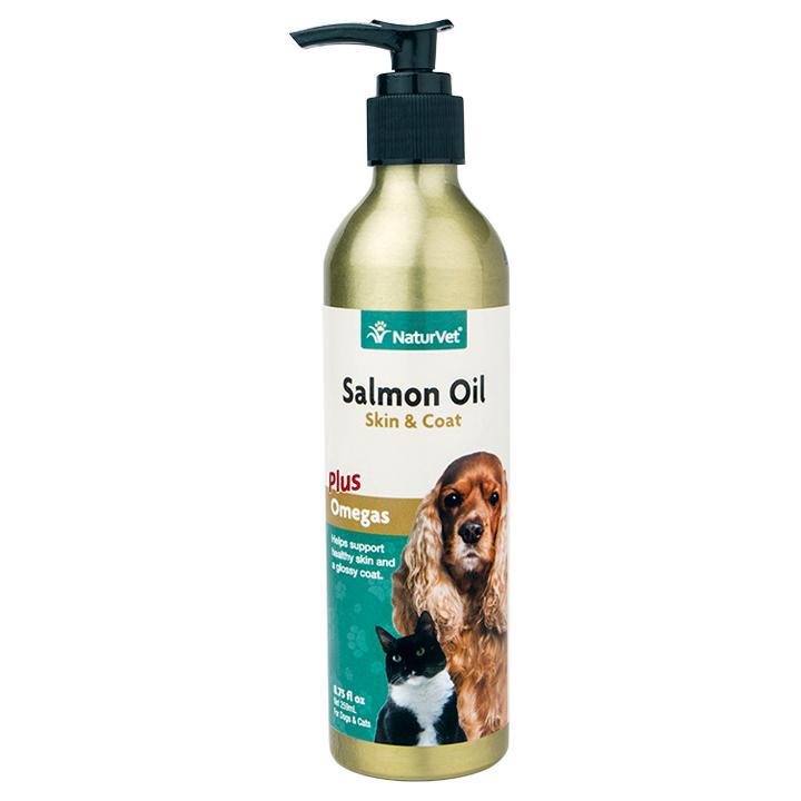 NaturVet Salmon Oil Skin and Coat Liquid Dog and Cat Supply-Le Pup Pet Supplies and Grooming