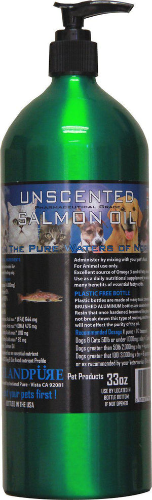 Iceland Pure Pet Products Unscented Pharmaceutical Grade Salmon Oil Liquid Dog and Cat Supply-Le Pup Pet Supplies and Grooming