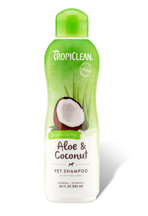 TropiClean Aloe & Coconut Deodorizing Shampoo for Dogs and Cats-Le Pup Pet Supplies and Grooming