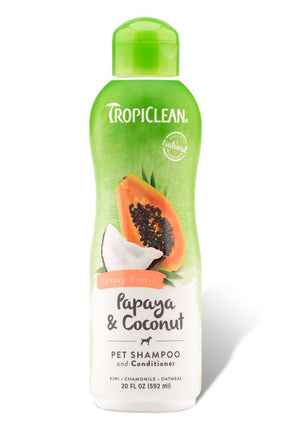 TropiClean Papaya & Coconut Luxury 2 in 1 Cleansing Pet Shampoo and Conditioner for Dogs and Cats-Le Pup Pet Supplies and Grooming