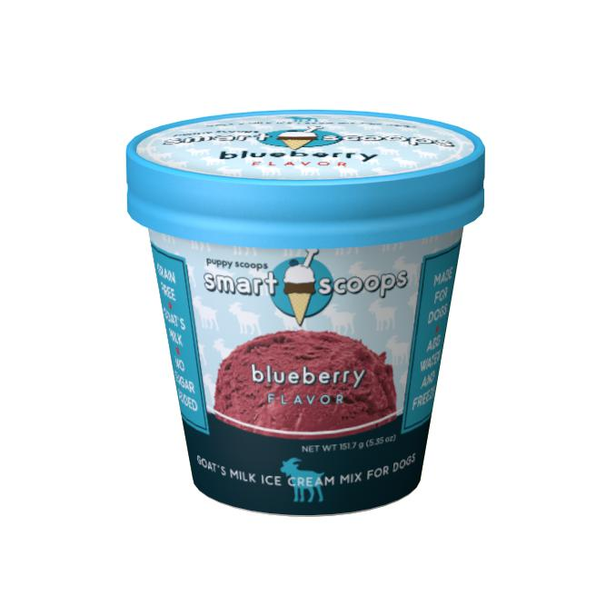 Puppy Cake Smart Scoops Goat's Milk Ice Cream Mix - Blueberry Grain-Free Dog Treat, 5.35oz.-Le Pup Pet Supplies and Grooming