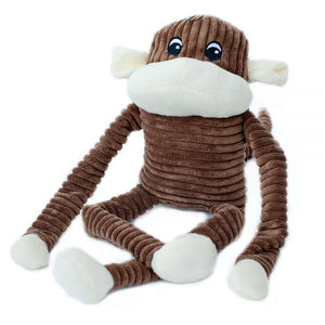 ZippyPaws Spencer the Crinkle Monkey Brown Dog Toy-Le Pup Pet Supplies and Grooming