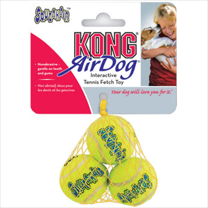 Kong SqueakAir Balls Dog Toy, 3-pack-Le Pup Pet Supplies and Grooming