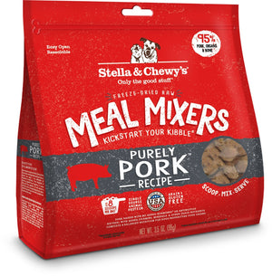 Stella & Chewy's Purely Pork Recipe Grain-Free Freeze-Dried Raw Meal Mixers Dog Food