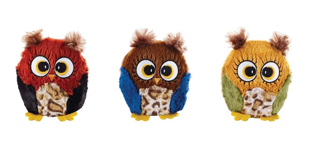 "Spot Hoots Owl Plush Assorted Squeaker Dog Toy, 3""-Le Pup Pet Supplies and Grooming"