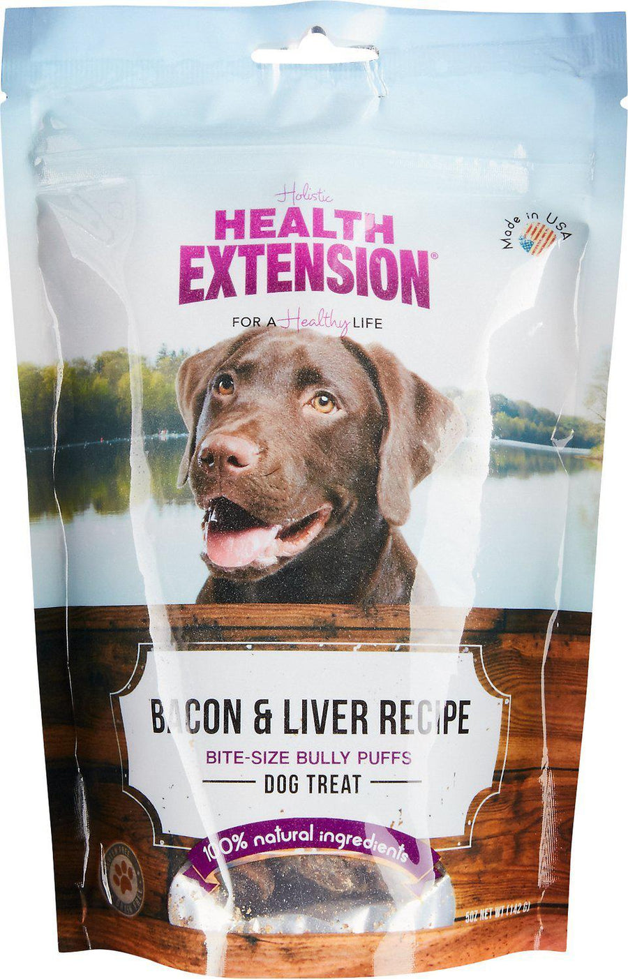 Health Extension Holistic Bacon & Liver Bully Puffs Grain-Free Dog Treats-Le Pup Pet Supplies and Grooming