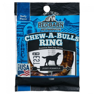 Redbarn Chew-A-Bulls Ring Beefy Flavor Chews Dog Treats, 1 count-Le Pup Pet Supplies and Grooming