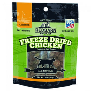 Redbarn Naturals Chicken Freeze-Dried Grain-Free Cat Treats, 0.75oz.-Le Pup Pet Supplies and Grooming