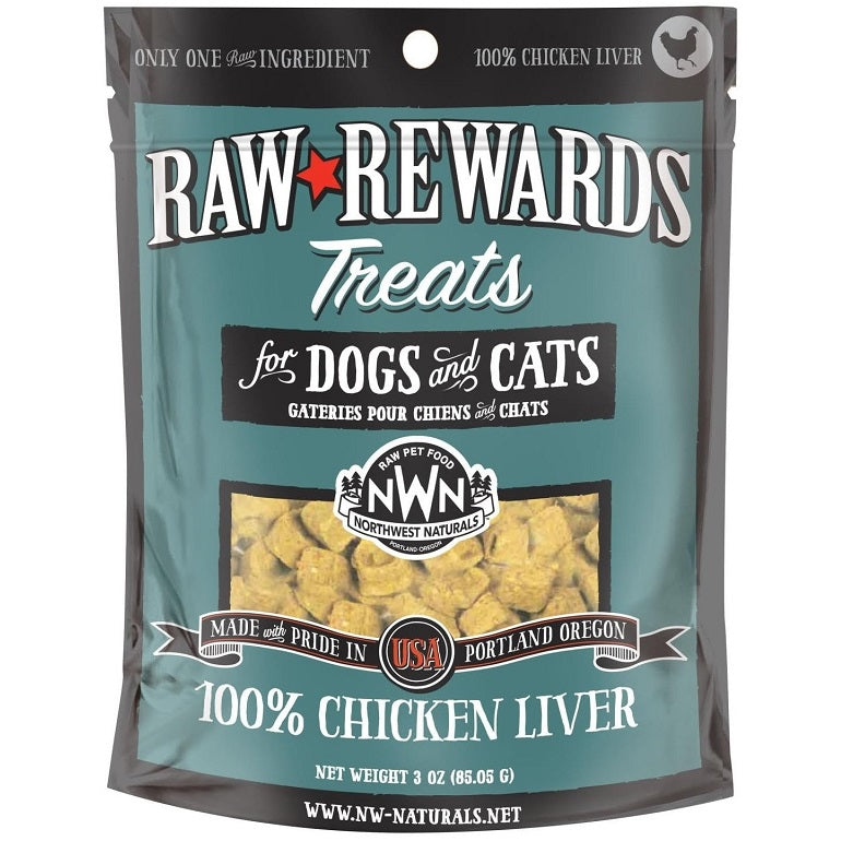 Northwest Naturals Raw Rewards Chicken Liver Grain-Free Freeze-Dried Dog and Cat Treats-Le Pup Pet Supplies and Grooming