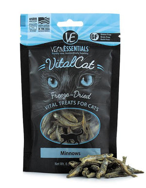 Vital Essentials Minnows Freeze-Dried Raw Grain-Free Cat Treats, 0.5oz.-Le Pup Pet Supplies and Grooming