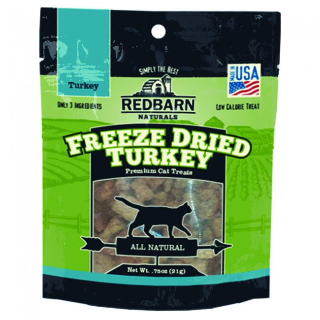 Redbarn Naturals Freeze-Dried Turkey Grain-Free Cat Treats, 0.75oz.-Le Pup Pet Supplies and Grooming