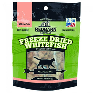 Redbarn Naturals Freeze-Dried Whitefish Grain-Free Cat Treats, 0.75oz.-Le Pup Pet Supplies and Grooming
