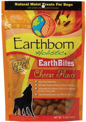 Earthborn EarthBites Cheese Flavor Grain-Free Dog Treats, 7.5 oz.-Le Pup Pet Supplies and Grooming