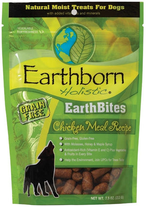 Earthborn EarthBites Chicken Meal Recipe Grain-Free Dog Treats, 7.5 oz.-Le Pup Pet Supplies and Grooming