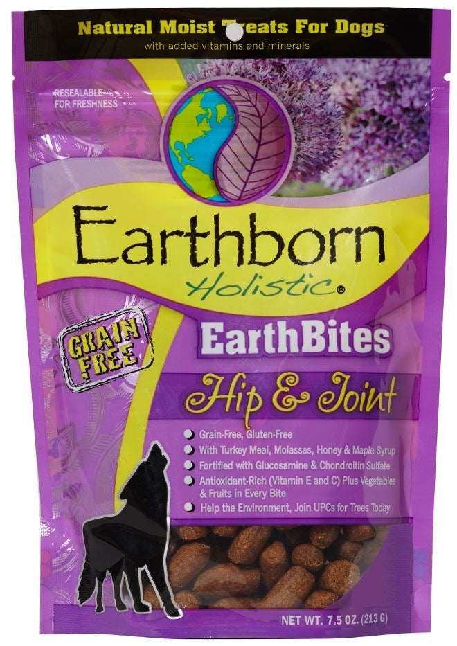 Earthborn EarthBites Hip & Joint Grain-Free Dog Treats, 7.5 oz.-Le Pup Pet Supplies and Grooming