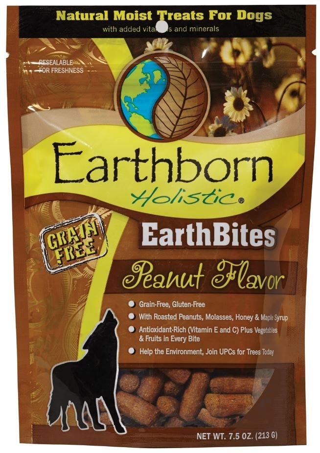 Earthborn EarthBites Peanut Flavor Grain-Free Dog Treats, 7.5 oz.-Le Pup Pet Supplies and Grooming
