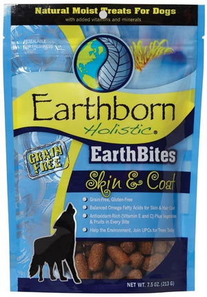Earthborn EarthBites Skin & Coat Grain-Free Dog Treats, 7.5 oz.-Le Pup Pet Supplies and Grooming