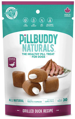 Pill Buddy Naturals Grilled Duck Recipe Dog Treats, 30ct.-Le Pup Pet Supplies and Grooming