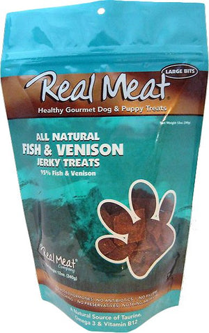 The Real Meat Company Fish & Venison Jerky Grain-Free Dog Treats-Le Pup Pet Supplies and Grooming