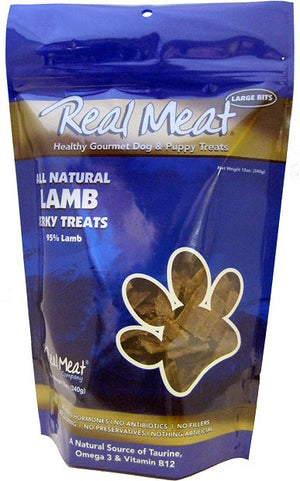 The Real Meat Company Lamb Jerky Grain-Free Dog Treats-Le Pup Pet Supplies and Grooming
