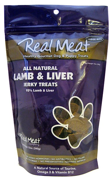 The Real Meat Company Lamb & Liver Jerky Grain-Free Dog Treats-Le Pup Pet Supplies and Grooming