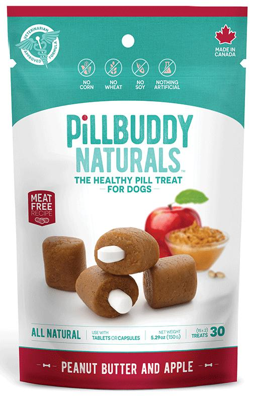 Pill Buddy Naturals Peanut Butter & Apple Dog Treats, 30ct.-Le Pup Pet Supplies and Grooming