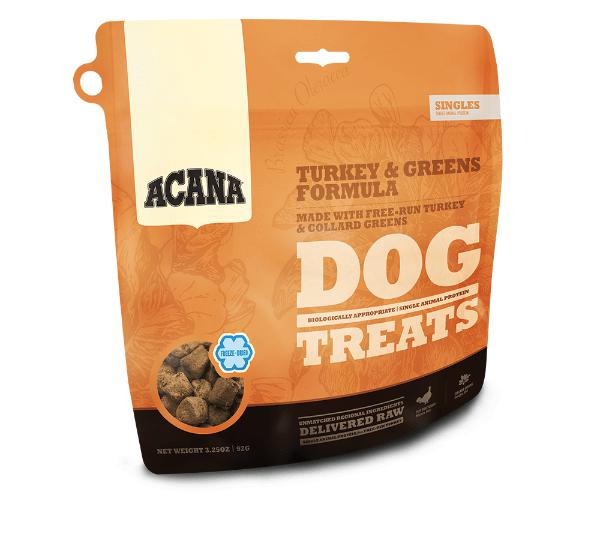Acana Singles Turkey & Greens Formula Freeze-Dried Dog Treats-Le Pup Pet Supplies and Grooming